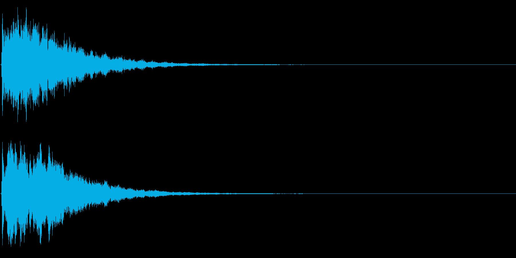 ゲームスタート、決定、ボタン音-018の再生済みの波形