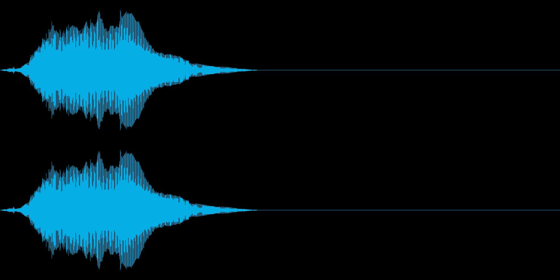 にゃーん(猫の鳴き声)パート01の再生済みの波形