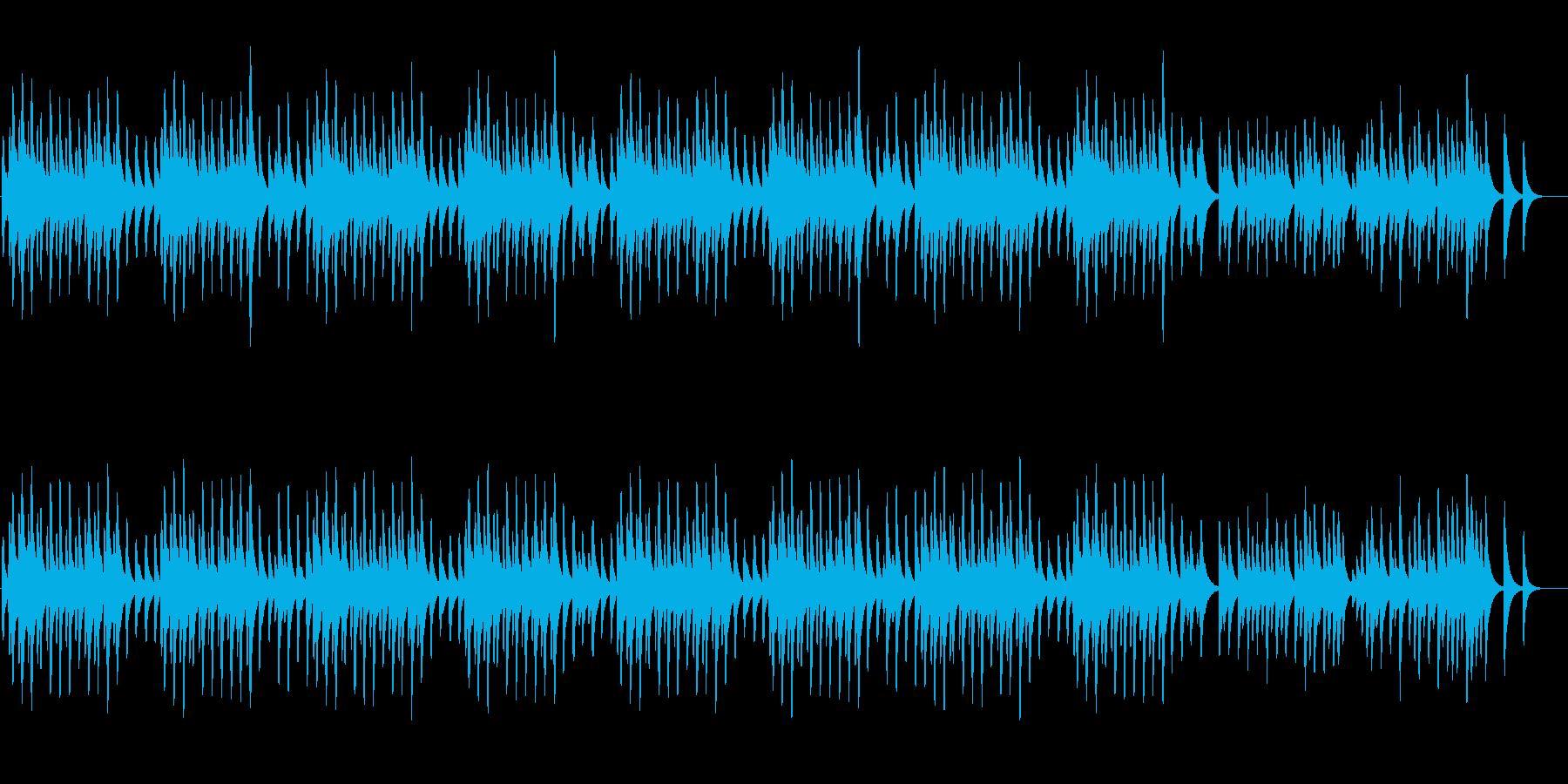 ドヴォルザーク「ユモレスク」のオルゴールの再生済みの波形