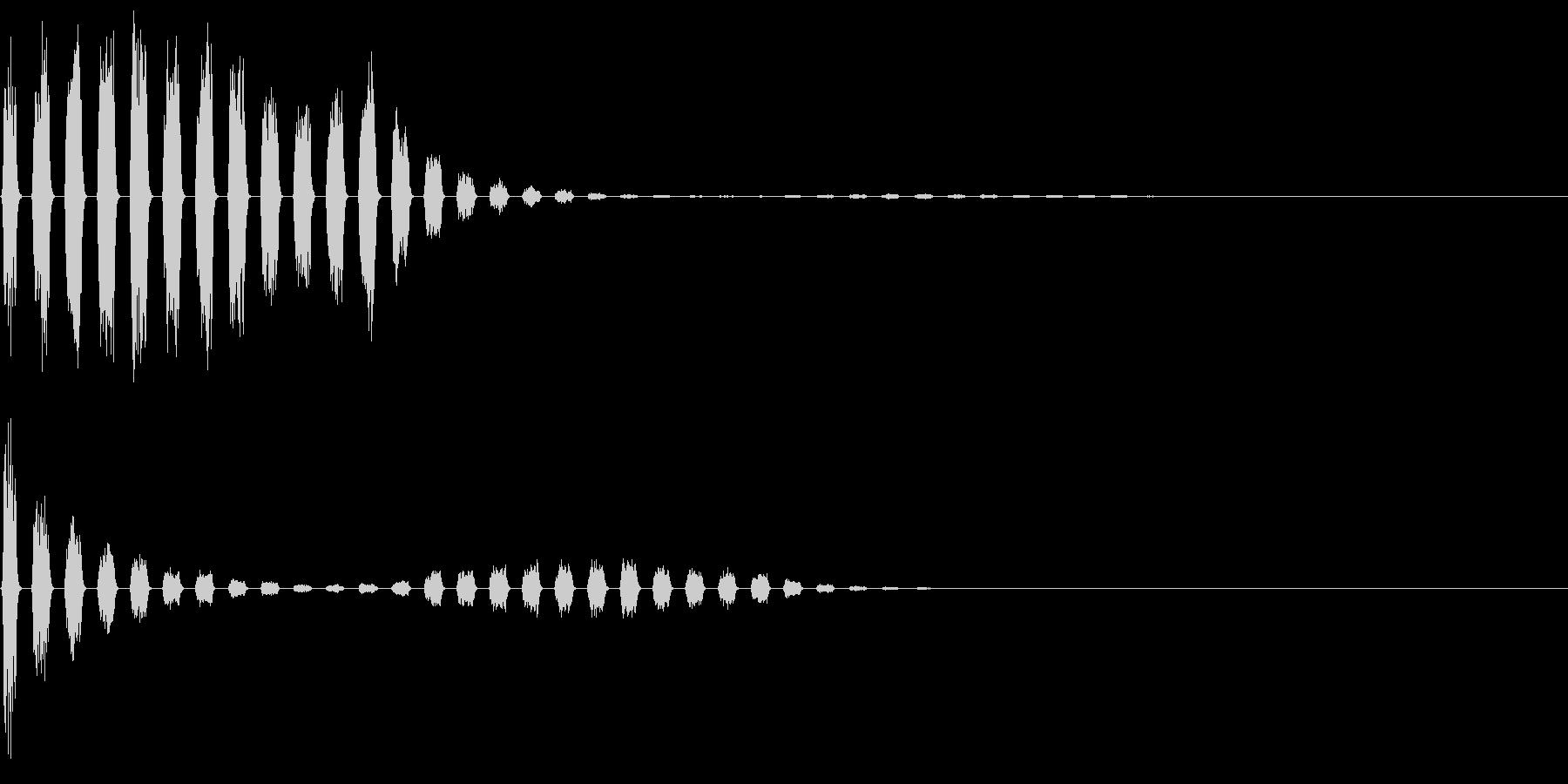 256 落下音3(2-8)の未再生の波形