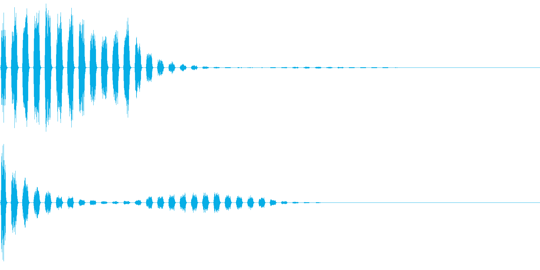 256 落下音3(2-8)の再生済みの波形