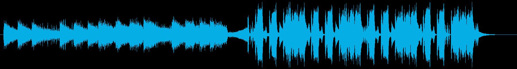 淡々とした少し緩い変則ビートの再生済みの波形