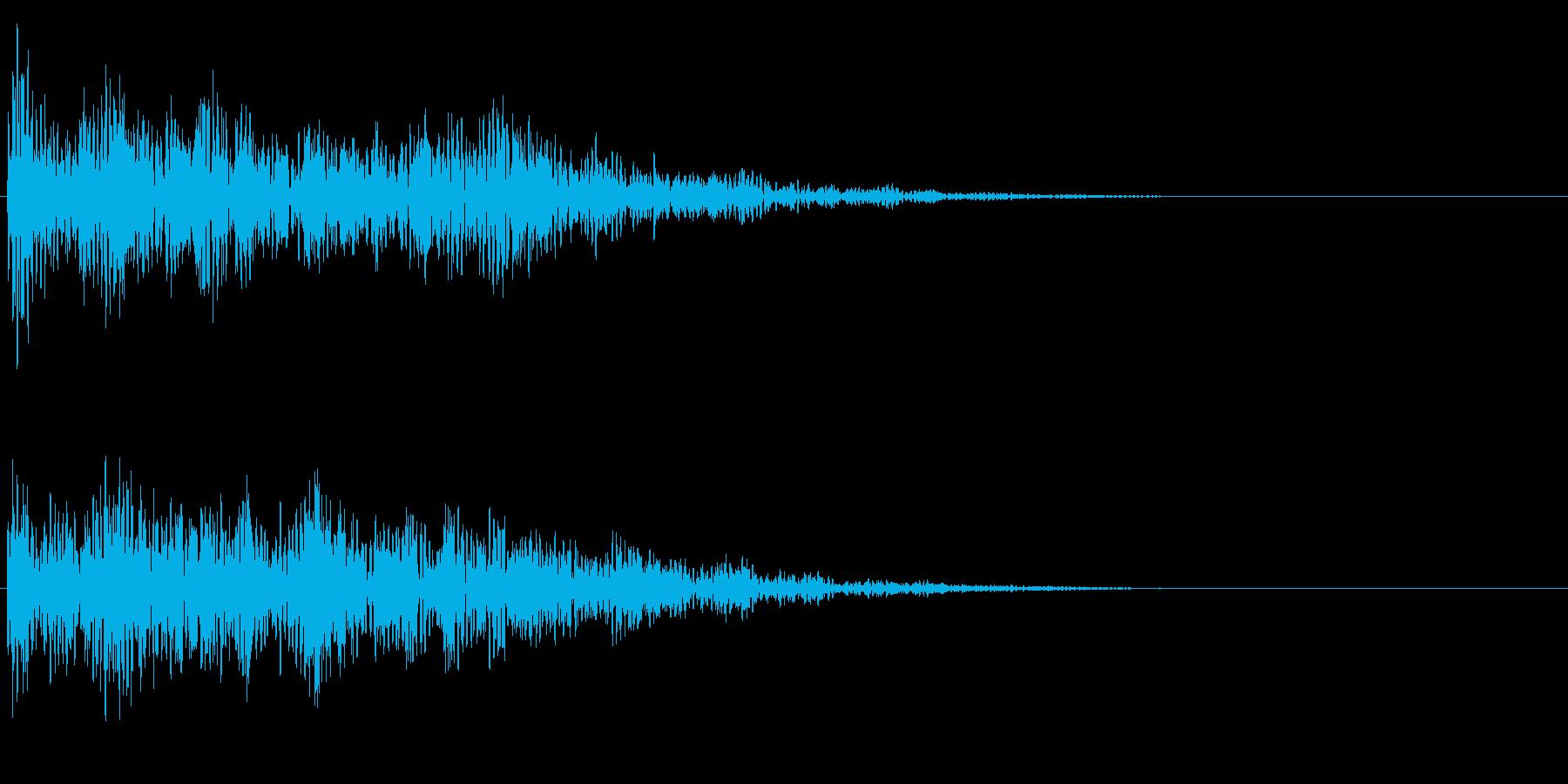 浮遊感のあるインパクトの再生済みの波形
