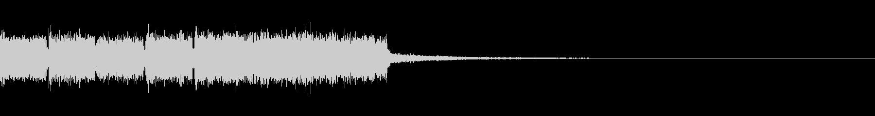 キャッチーなEDMジングルの未再生の波形
