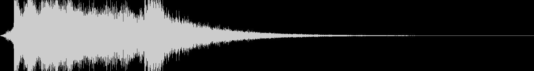 キラキラ爽やかなサウンドロゴ/ジングルの未再生の波形