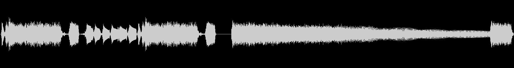 エレキギターのロックジングルの未再生の波形