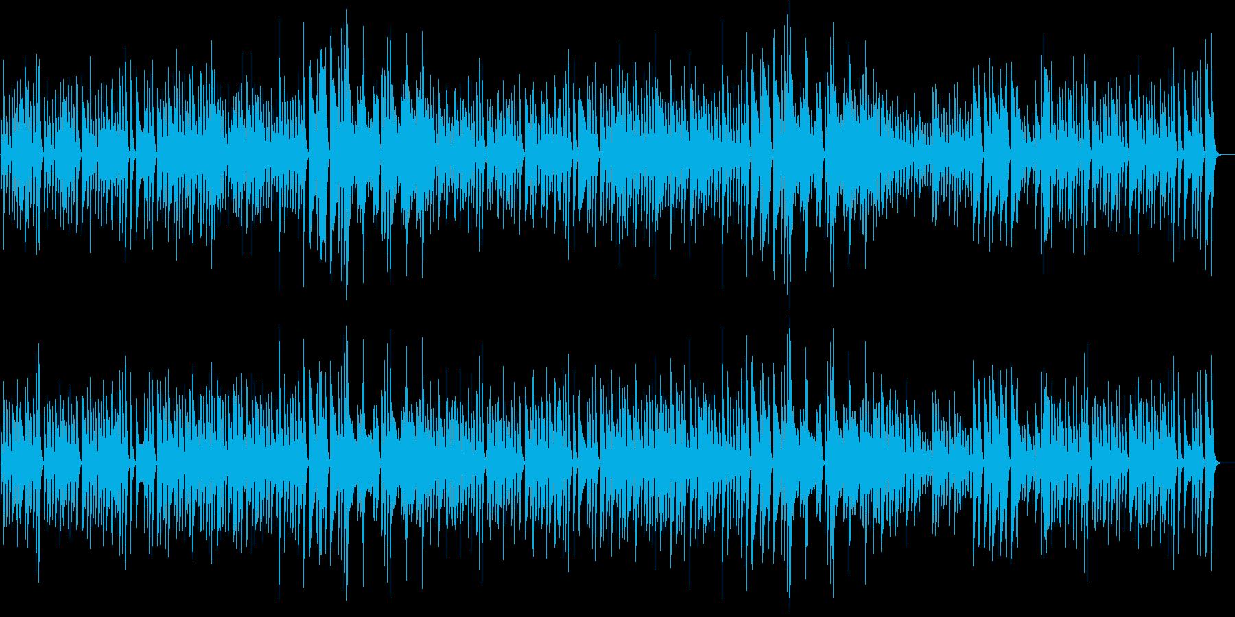 猫動画に♪リズミカルお茶目なピアノBGMの再生済みの波形