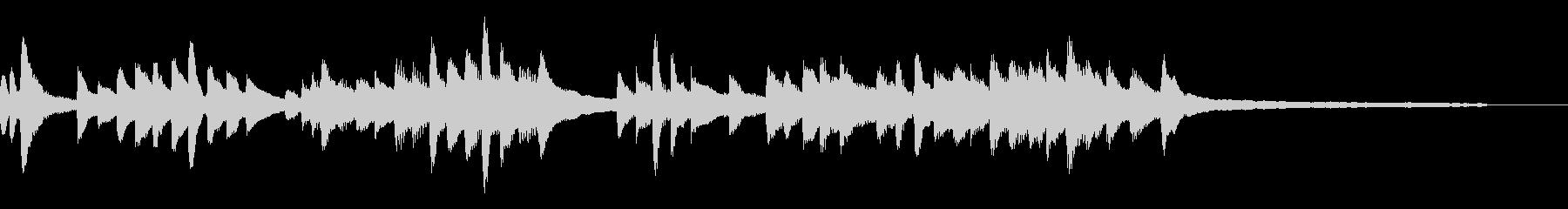 しっとりした平和なジングル39-ピアノの未再生の波形