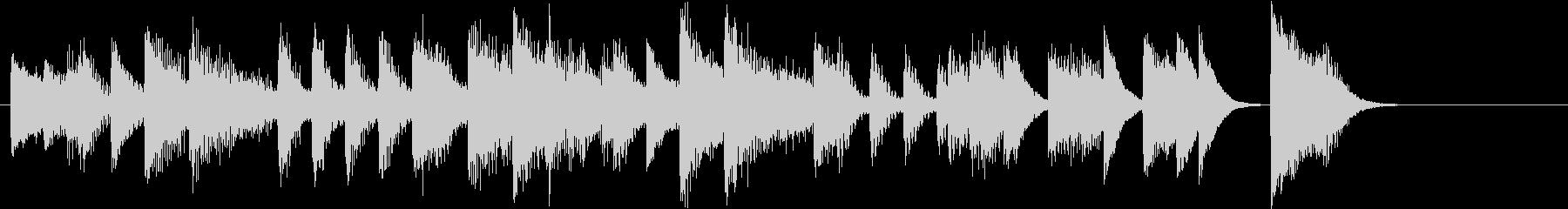 アップテンポクールジャズのピアノジングルの未再生の波形