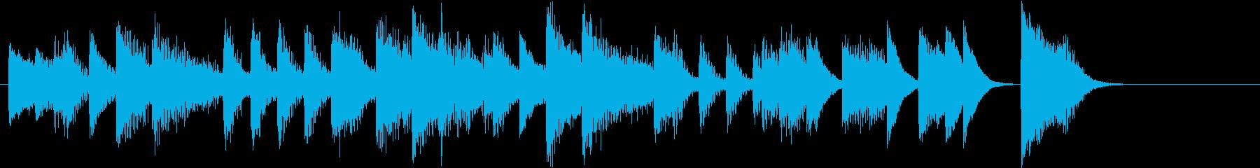 アップテンポクールジャズのピアノジングルの再生済みの波形