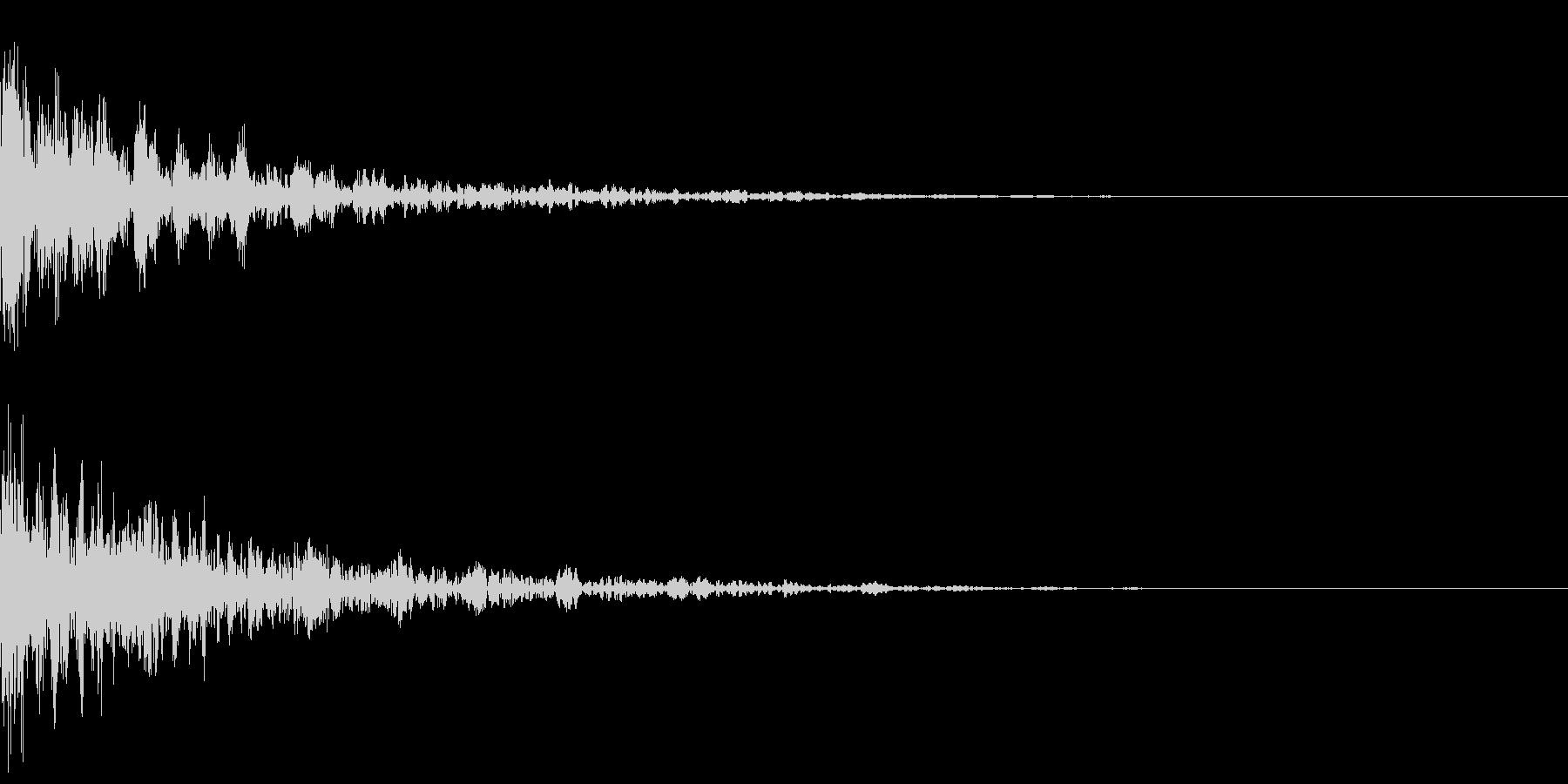 ドーン-28-2(インパクト音)の未再生の波形