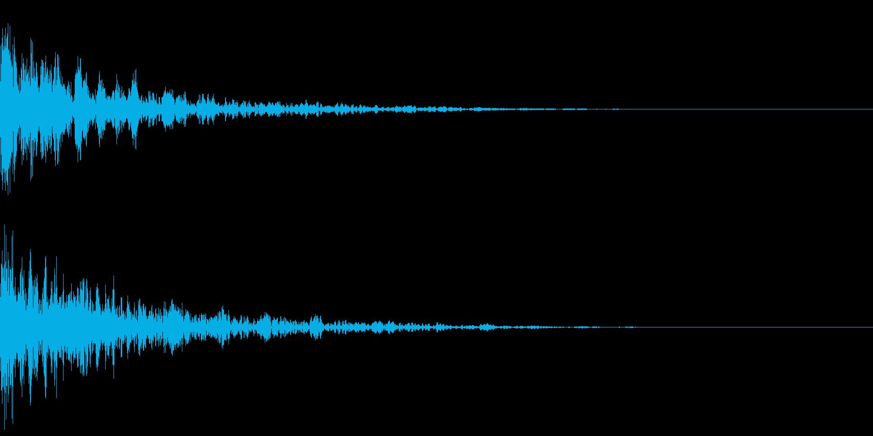 ドーン-28-2(インパクト音)の再生済みの波形