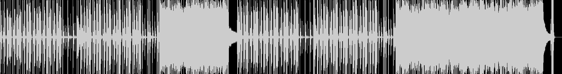ベースが主役のロック調イントロの未再生の波形