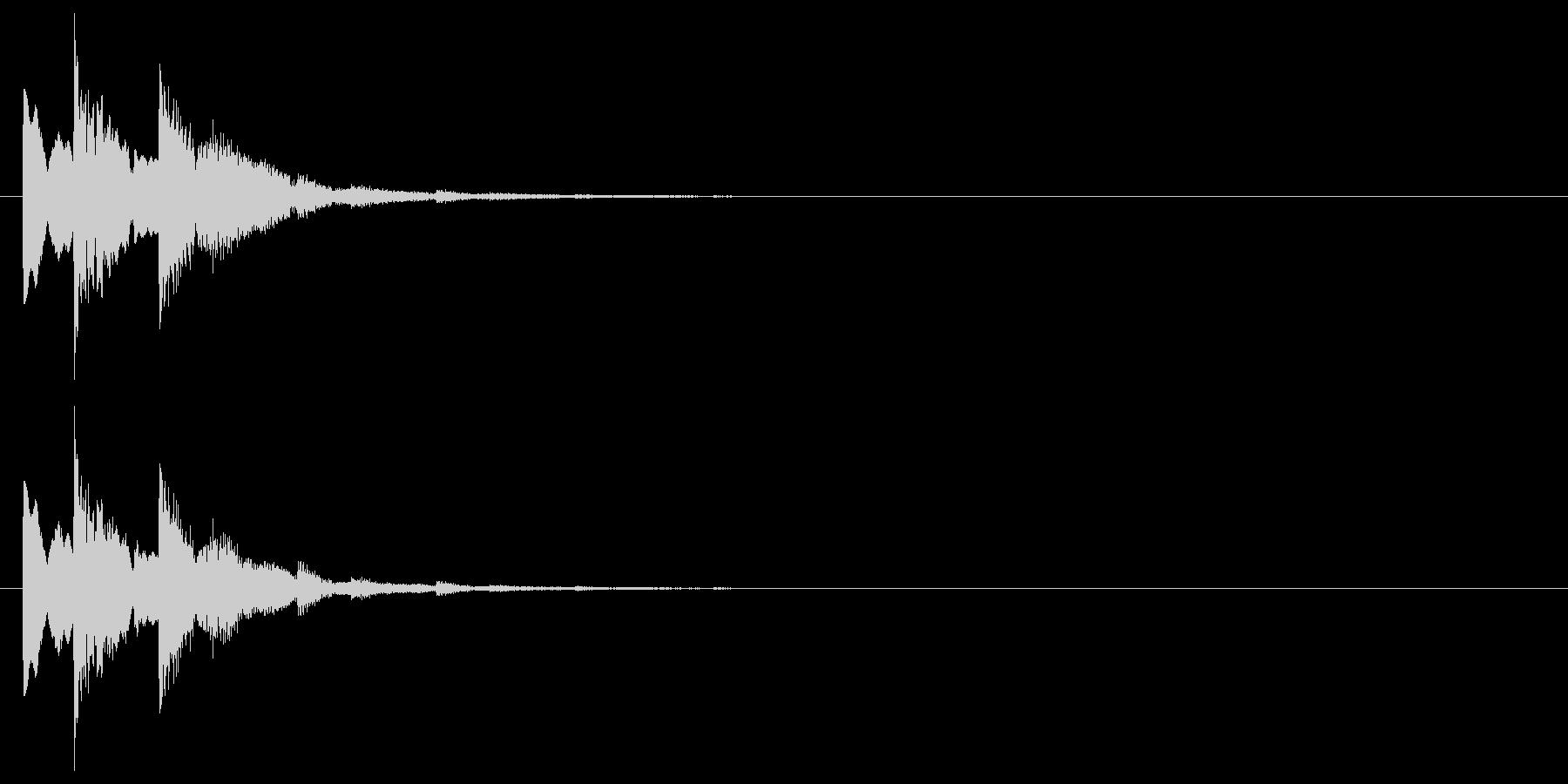 シンプルな下降系決定音_2(タララン↓)の未再生の波形