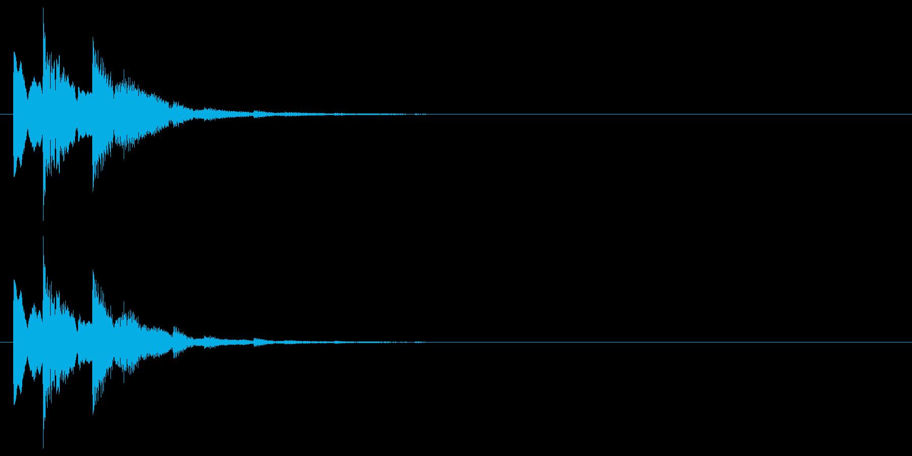 シンプルな下降系決定音_2(タララン↓)の再生済みの波形