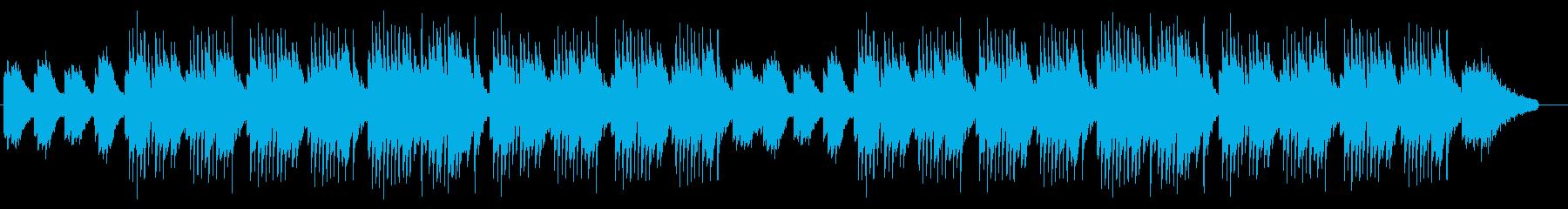 日本の侘び寂びを感じさせるピアノと琴の曲の再生済みの波形