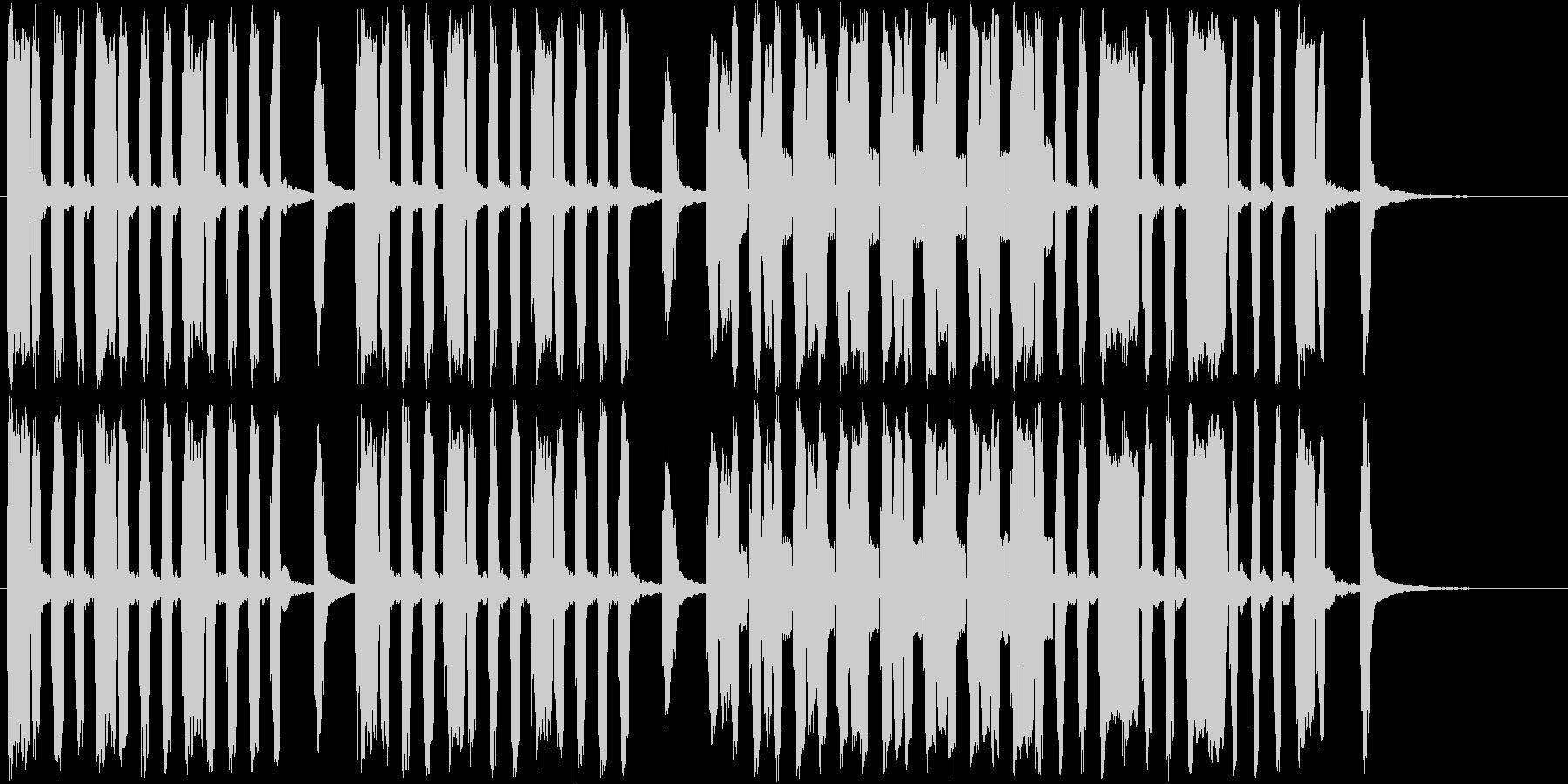 ユニークな場面のショートソングの未再生の波形