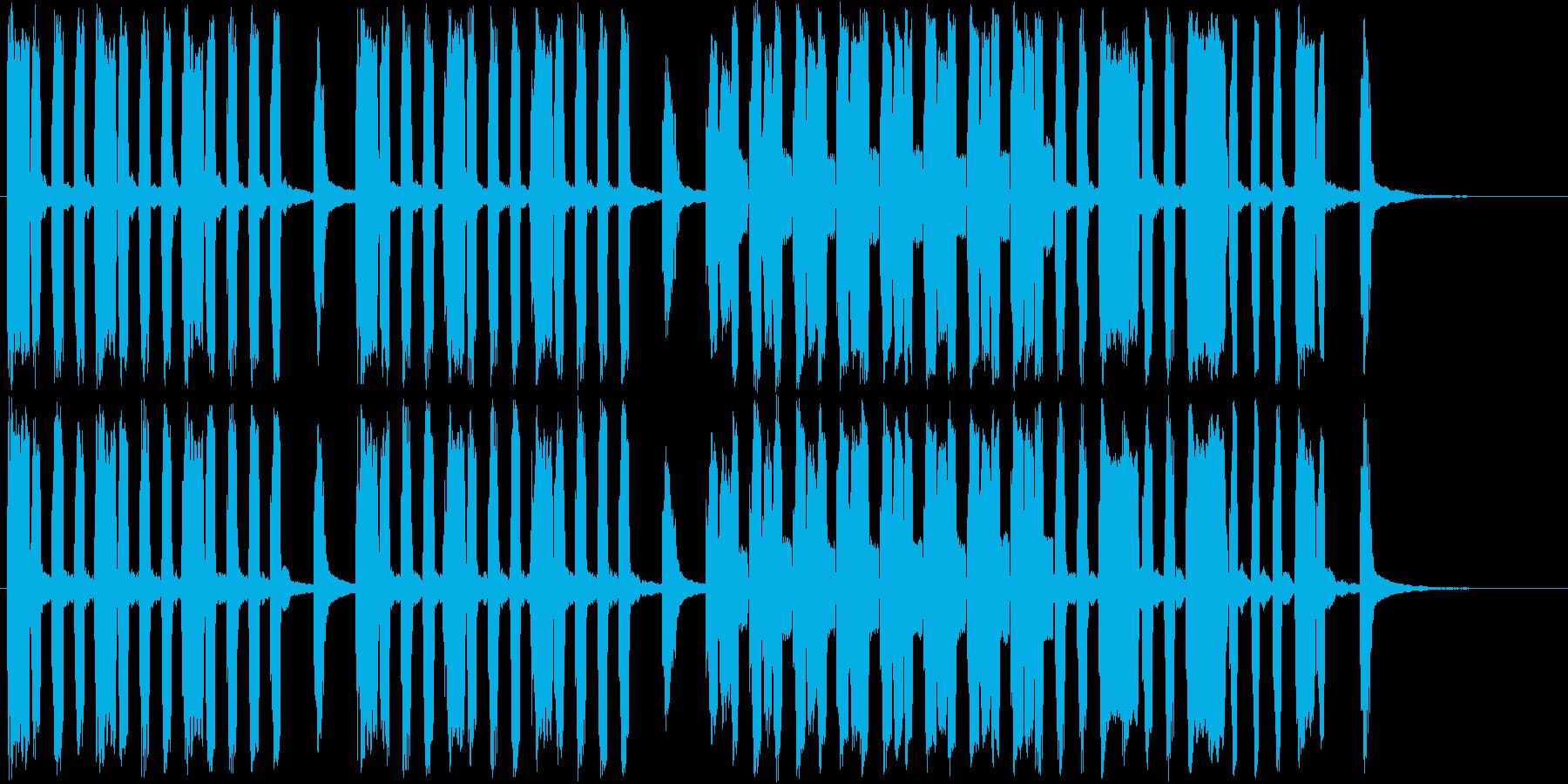 ユニークな場面のショートソングの再生済みの波形