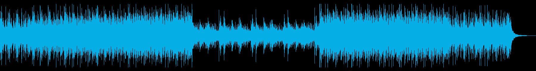 シンセとピアノの企業向けアンビエントの再生済みの波形