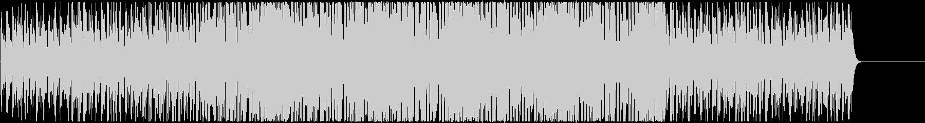 ワクワク感のあるシンセの4つ打ちBGMの未再生の波形