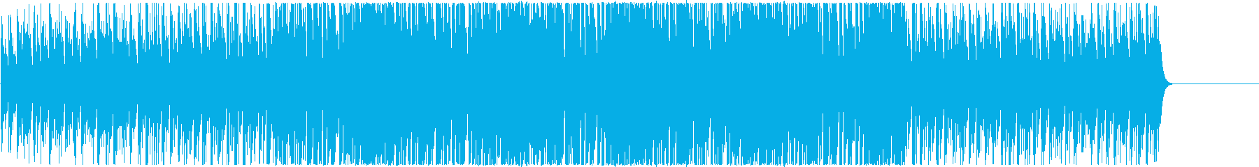 ワクワク感のあるシンセの4つ打ちBGMの再生済みの波形