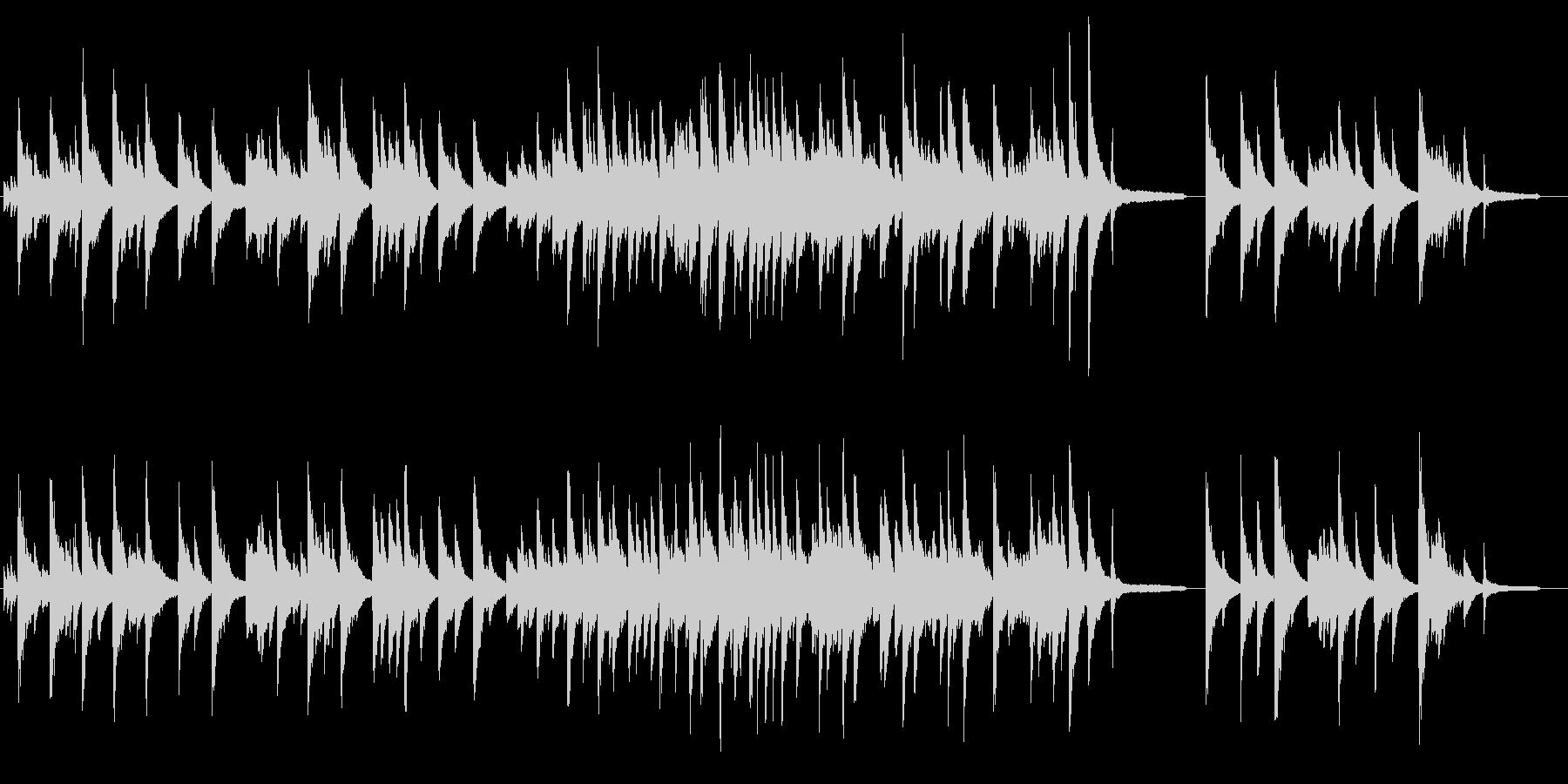 クラシカルな雰囲気のピアノソロ曲ですの未再生の波形