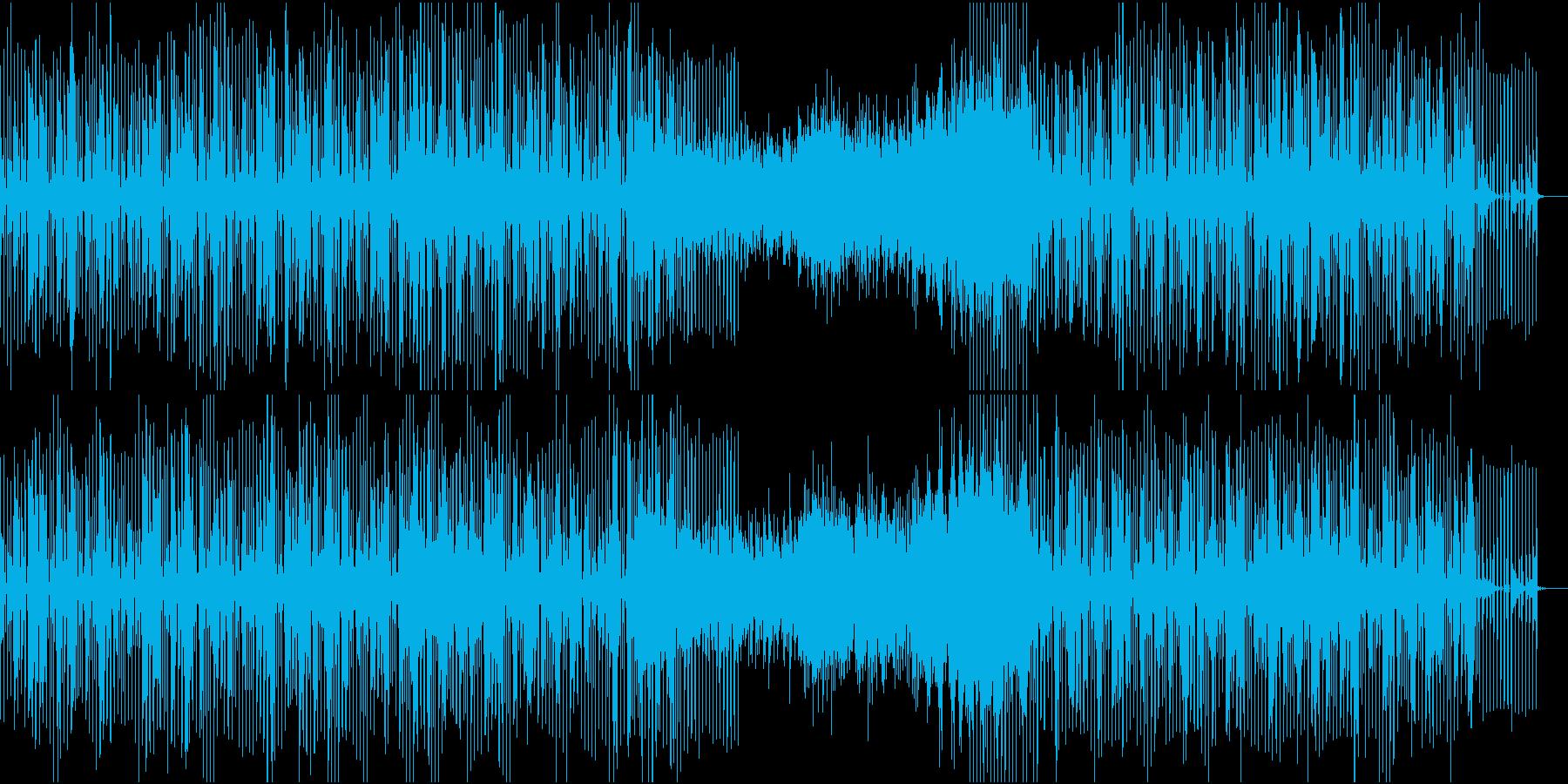 クールなテクノ系BGMの再生済みの波形