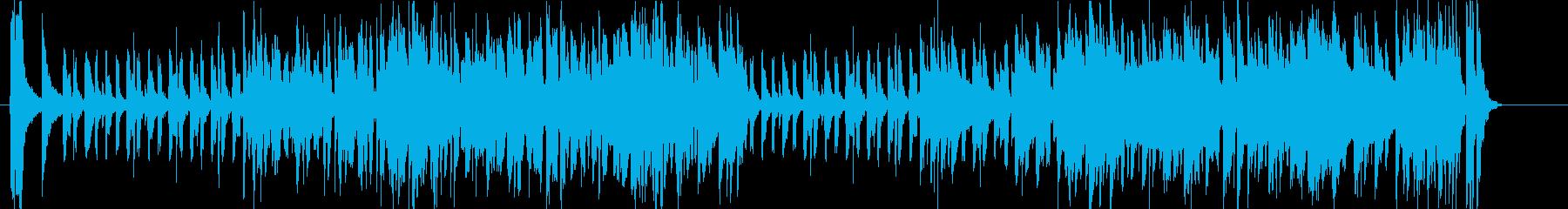 ほのぼの、平和なBGMの再生済みの波形