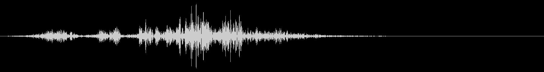 【生録音】本のページをめくる音 7の未再生の波形