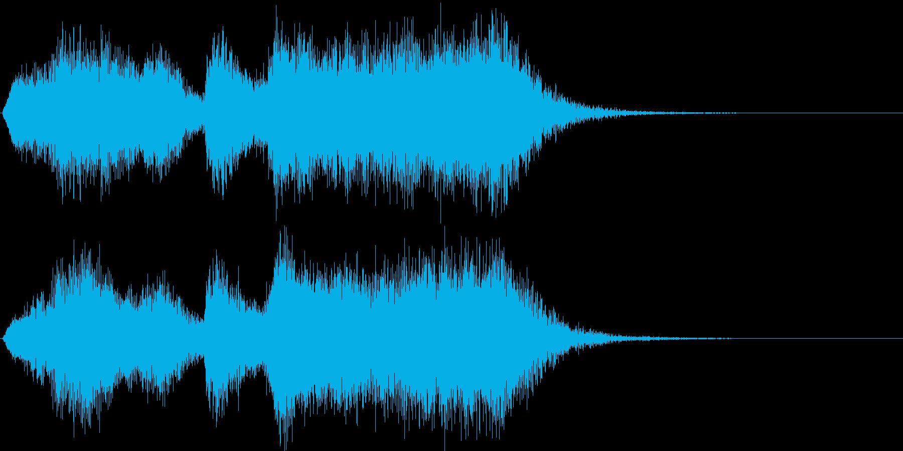 達成感あふれる管弦楽ファンファーレの再生済みの波形