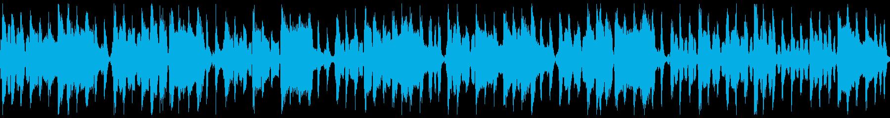 優雅なフランス風アコーディオン(ループの再生済みの波形