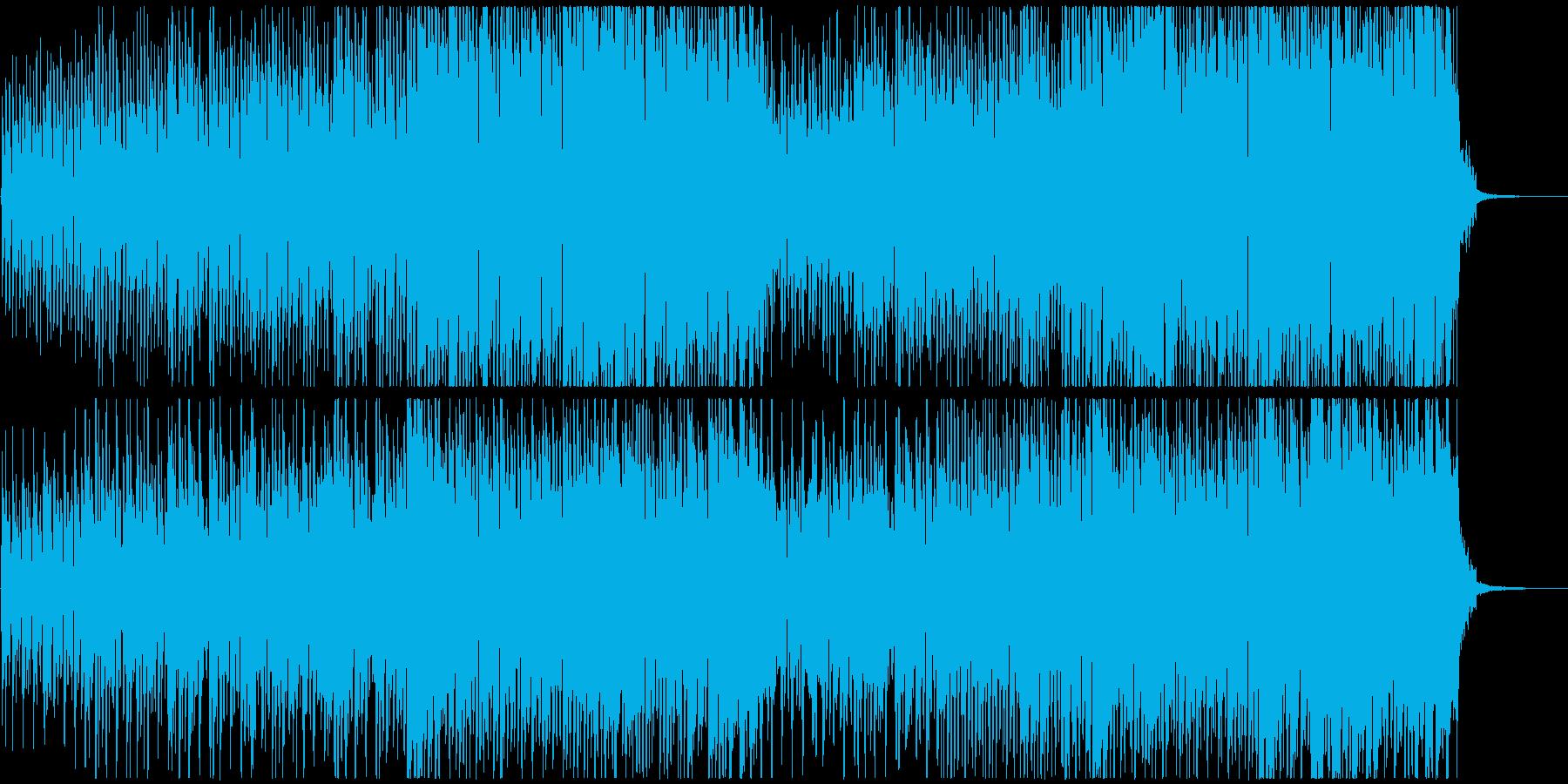 ウクレレと口笛のスイングジャズ風な曲の再生済みの波形
