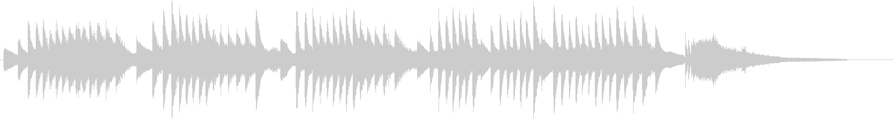 和音で流れ星を現した幻想的ピアノジングルの未再生の波形