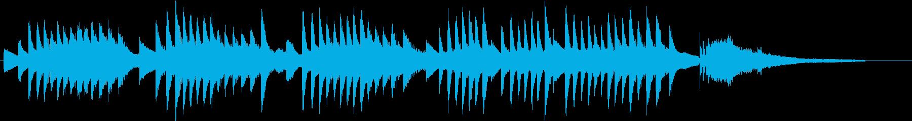 和音で流れ星を現した幻想的ピアノジングルの再生済みの波形