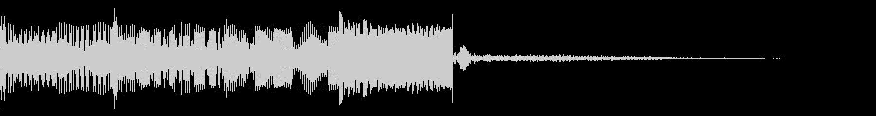 ピコン、決定音に使えます。の未再生の波形