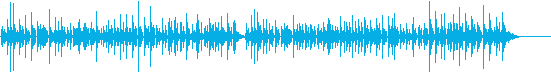 ウクレレとアコースティックサウンドの再生済みの波形