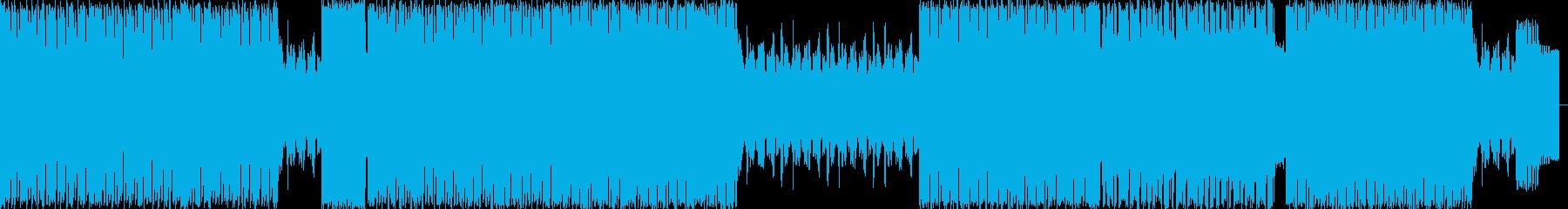 パワフルではじけるエレクトロハウスの再生済みの波形