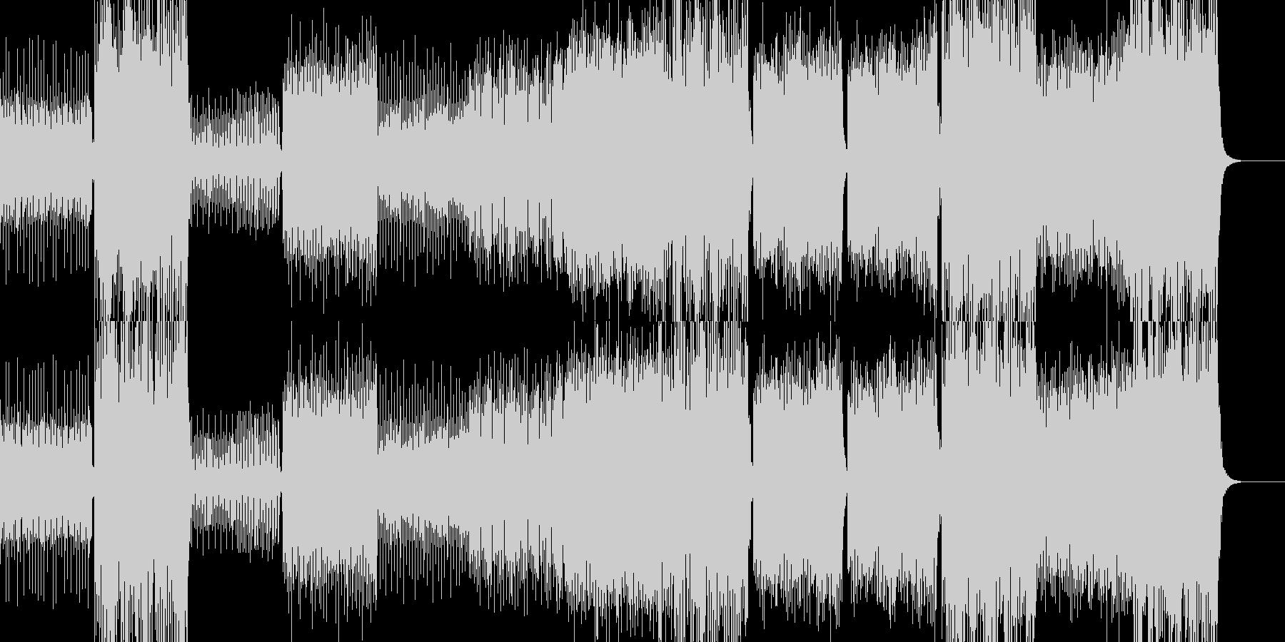 壮大で重厚なトランス -ヒット無しverの未再生の波形