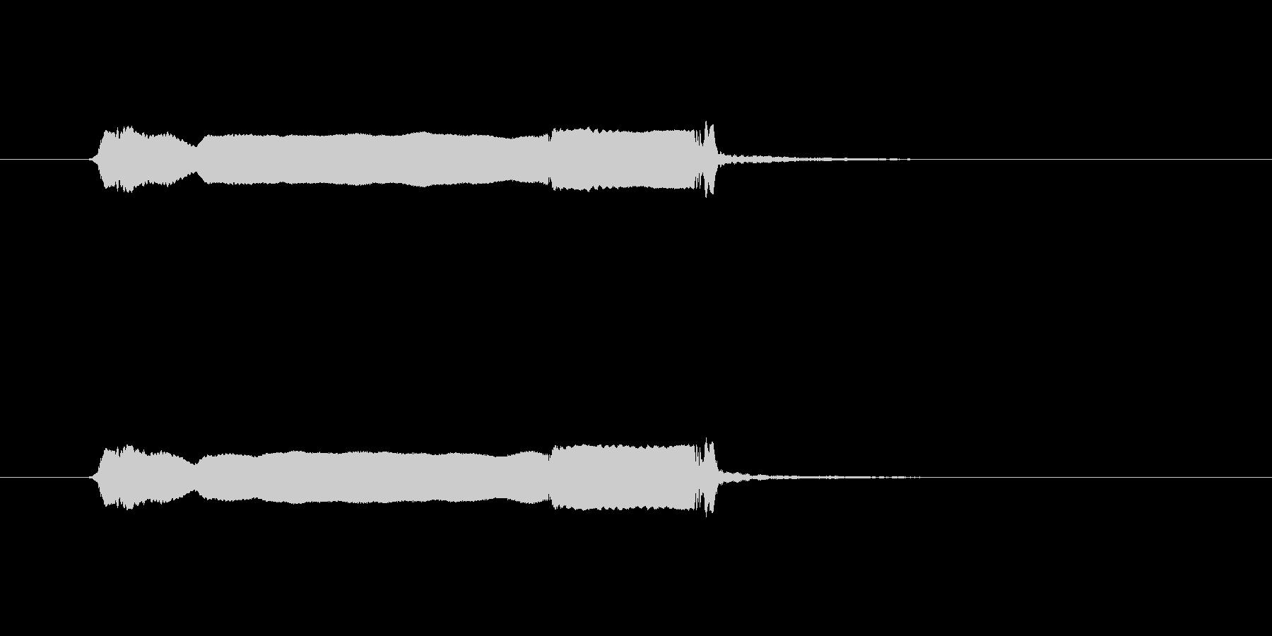 和風 篠笛生演奏のジングル01の未再生の波形
