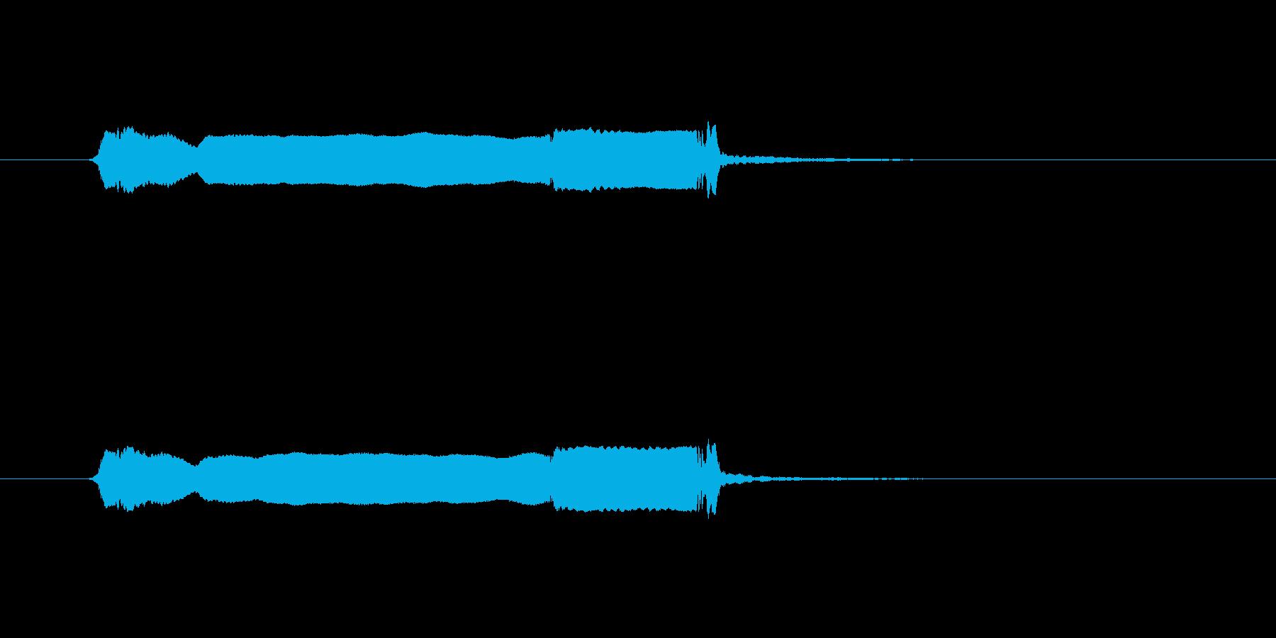 和風 篠笛生演奏のジングル01の再生済みの波形