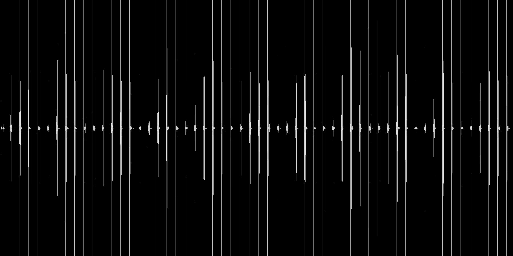 汎用性のあるハイヒールで歩く音の未再生の波形