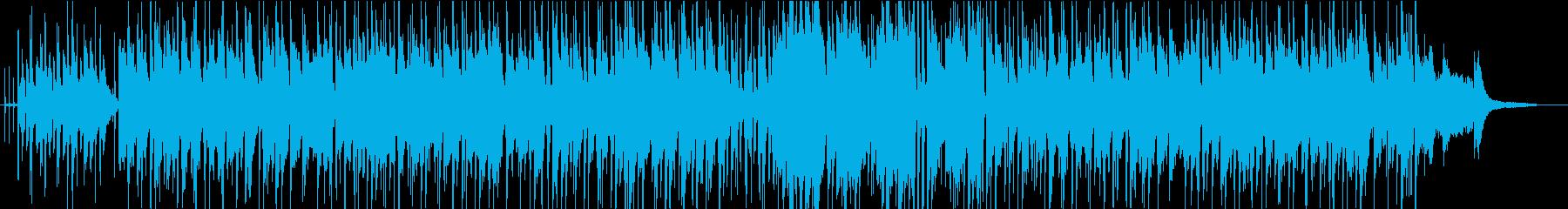 フルートの旋律が印象的なカフェ風ボサノバの再生済みの波形