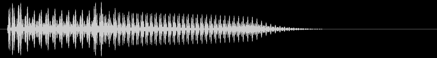 フコン(ボタン音、プッシュ音、クリック)の未再生の波形