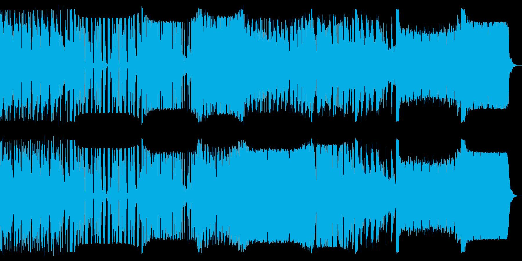 多ジャンルのイントロのリミックスの再生済みの波形