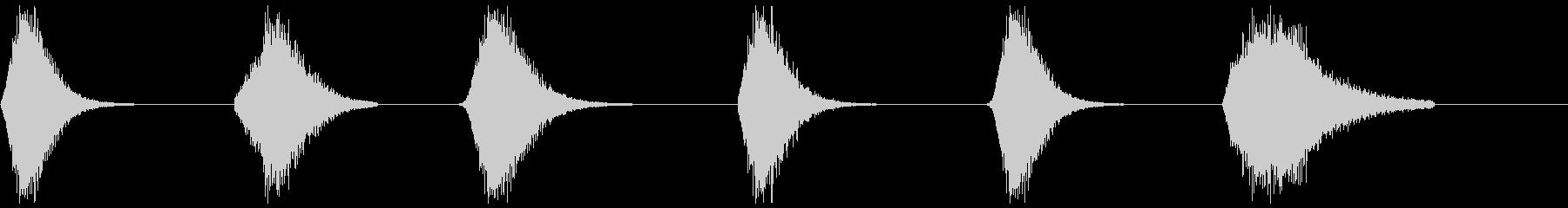 メタリックウーシ6-11の未再生の波形