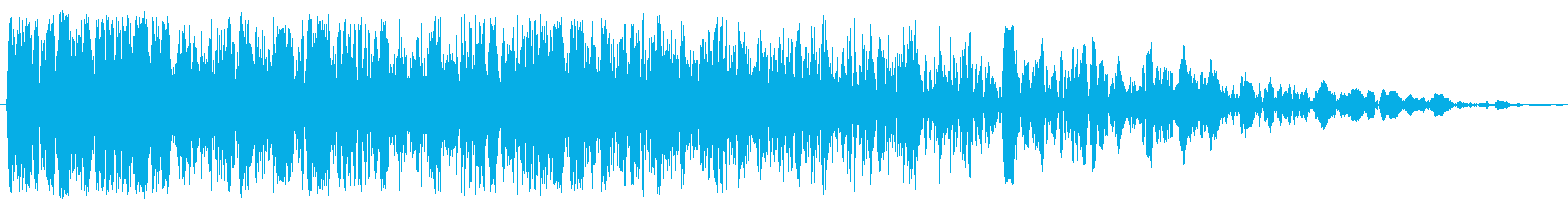 重いクランチの影響の再生済みの波形