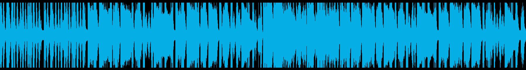ブラスとフルートと打楽器のシンプルマーチの再生済みの波形
