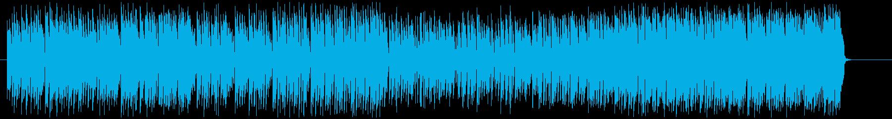 ラテン語でリラクゼーション効果のある曲の再生済みの波形