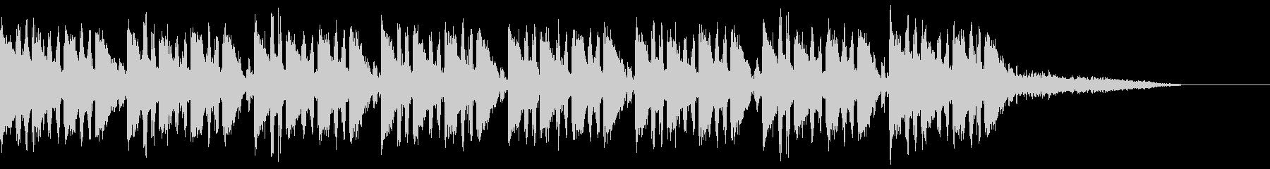 エレクトロ風のジングルの未再生の波形