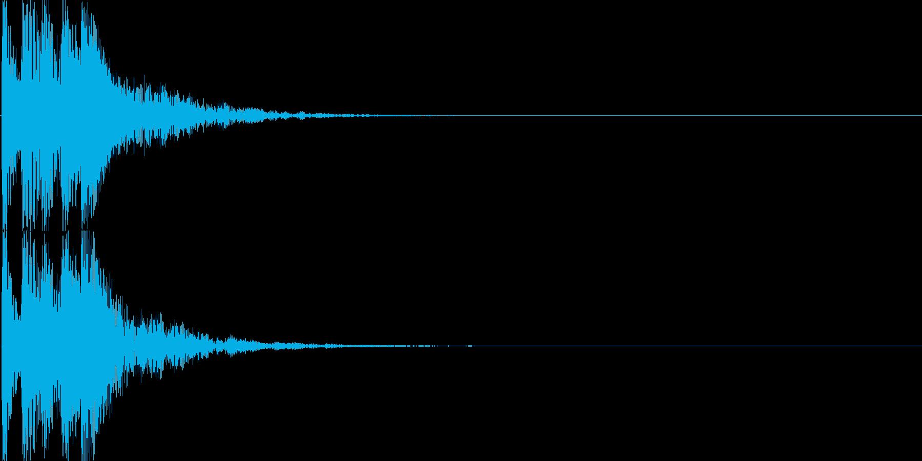 ピコ(ゲーム、アプリなどの操作音05)の再生済みの波形